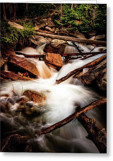 Little Cottonwood Creek Greeting Card by TL Mair