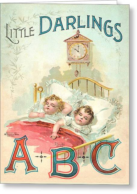 Little Darlings Patriot Book Cover Greeting Card by Reynold Jay
