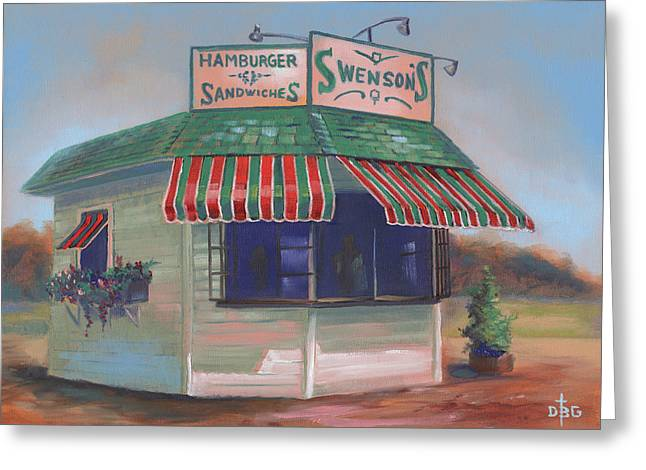 Little Drive-in On South Hawkins Ave Greeting Card