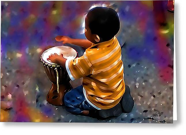 Little Drummer Boy Greeting Card by James  Mingo