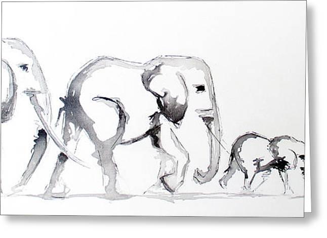 Little Elephant Family Greeting Card