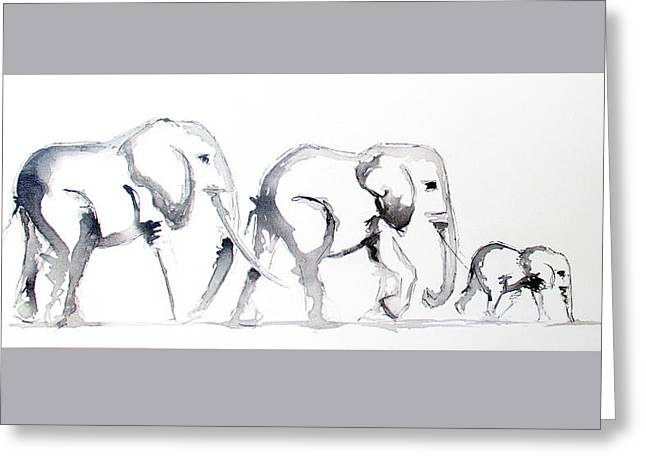 Little Elephant Family Greeting Card