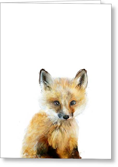 Little Fox Greeting Card by Amy Hamilton