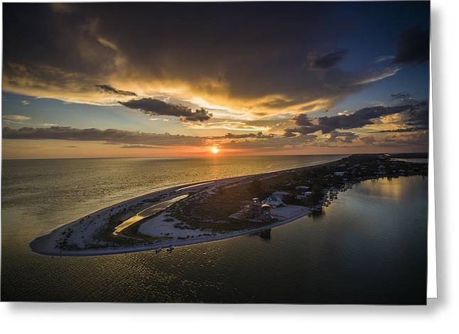 Little Gasparilla Island Point Sunset Greeting Card