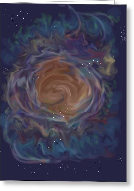 Little Ghost Nebula Greeting Card by Anne Norskog