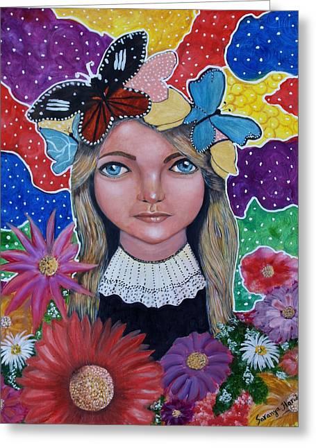 Little Girls Dream Greeting Card