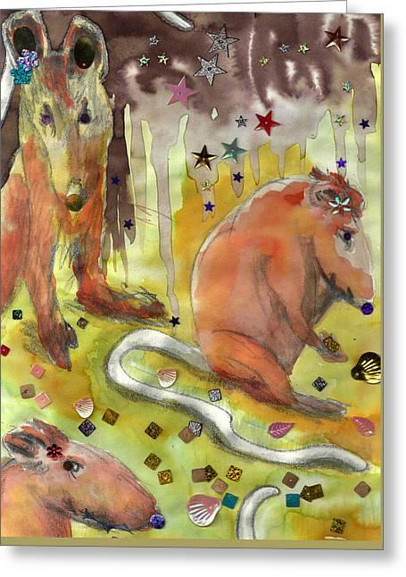 Little Gnaw Skank 11 - Booty Greeting Card by Geckojoy Gecko Books