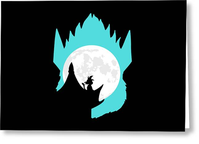 Dragon ball greeting cards page 5 of 8 fine art america little goku and the moon greeting card m4hsunfo