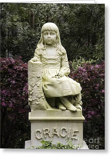 Little Gracie Bonaventure Cemetery Greeting Card