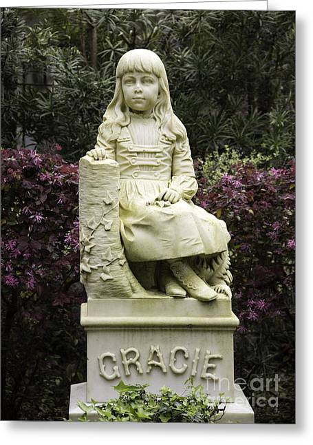 Little Gracie Bonaventure Cemetery Greeting Card