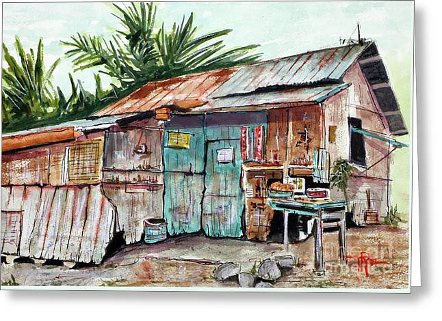 Old Shack Out Back Greeting Card by Tim Ross