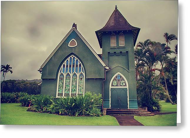 Little Green Church Greeting Card