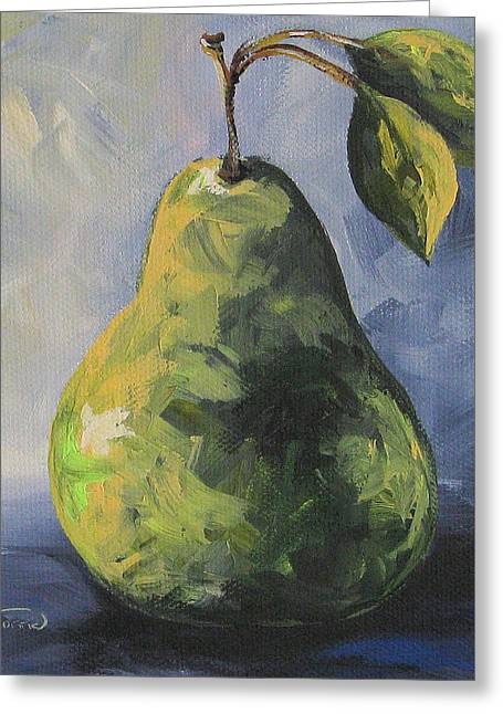 Little Green Pear Greeting Card