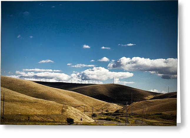 Little Hills Greeting Card by Subhadip Ghosh