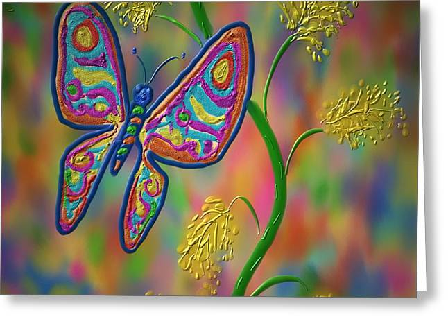Little Hip Butterfly Greeting Card by Kevin Caudill