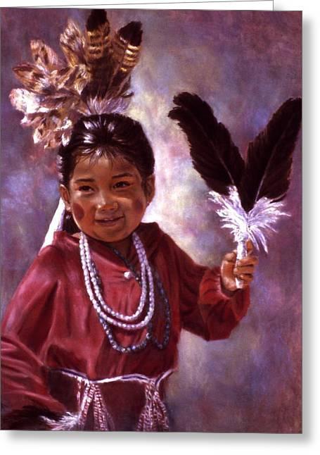 Little Hopi Dancer Greeting Card