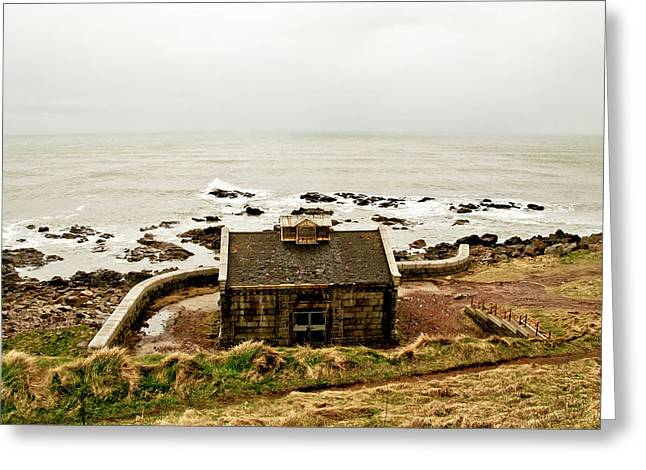 Little House At The Nigg Bay. Greeting Card