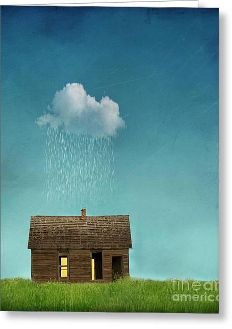 Little House Of Sorrow Greeting Card by Juli Scalzi