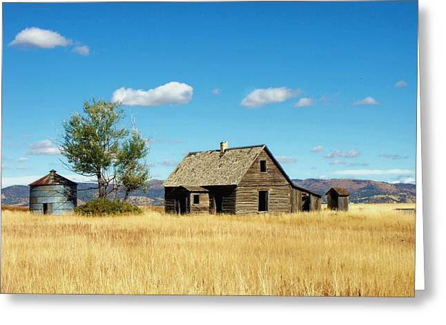 Little House On A Prairie  Greeting Card by Jan  Tribe