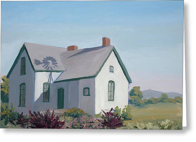 Little House On The Prairie Greeting Card by Mary Giacomini