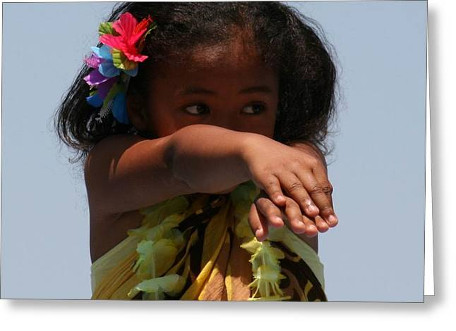 Greeting Card featuring the photograph Little Hula Dancer by Cynthia Marcopulos