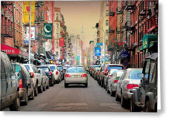 Little Italy Manhattan Greeting Card by Diana Angstadt