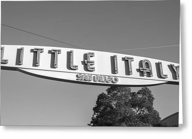 Little Italy Monochrome Greeting Card