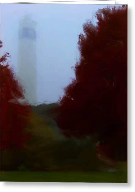Little Joe In Morning Fog Greeting Card