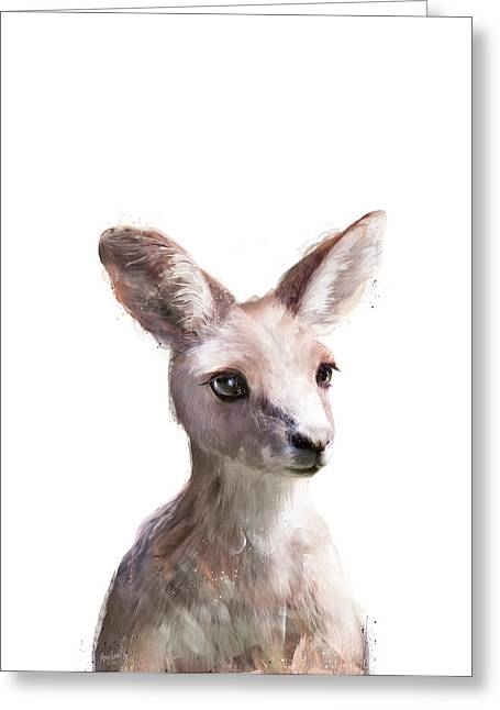 Little Kangaroo Greeting Card by Amy Hamilton