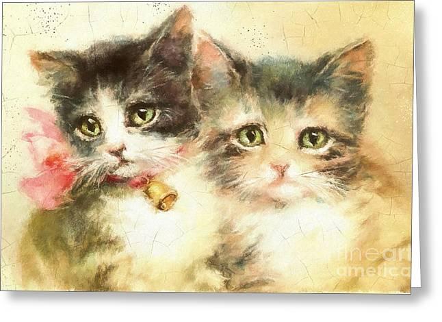 Little Kittens Greeting Card