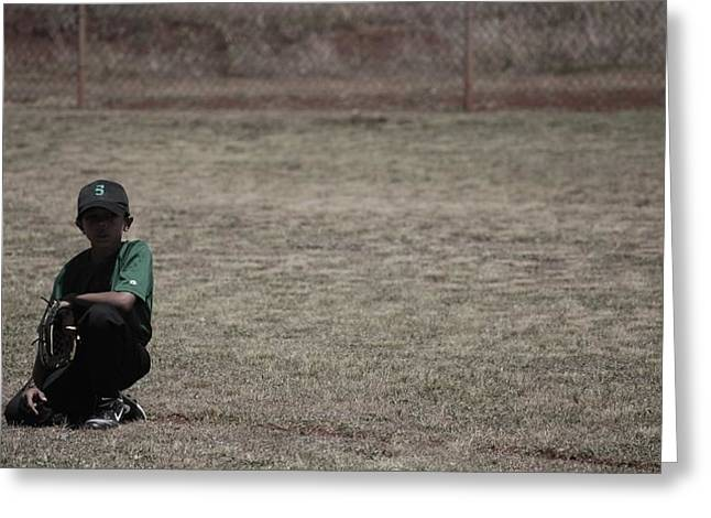 Little League Greeting Card by Lakida Mcnair