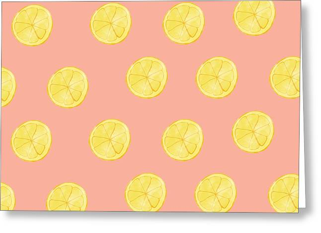 Little Lemons Greeting Card by Allyson Johnson