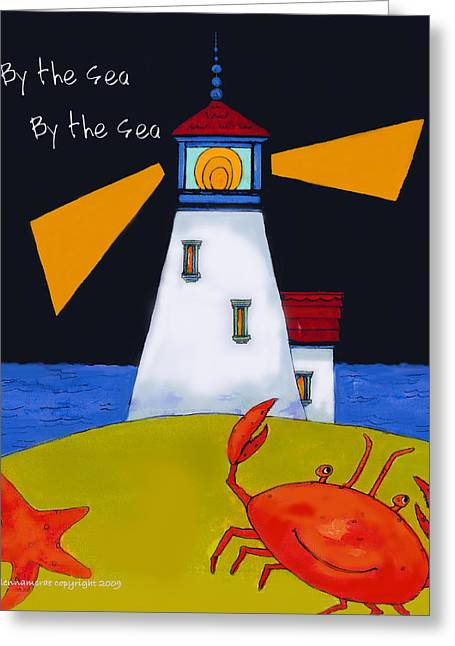 Little Lighthouse By The Sea Greeting Card