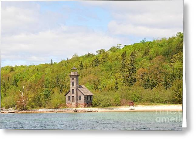Little Lighthouse In The Big Woods Greeting Card