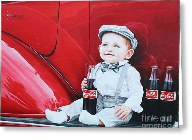 Little Mason Greeting Card by Mike Ivey