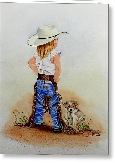 Little Miss Big Britches Greeting Card