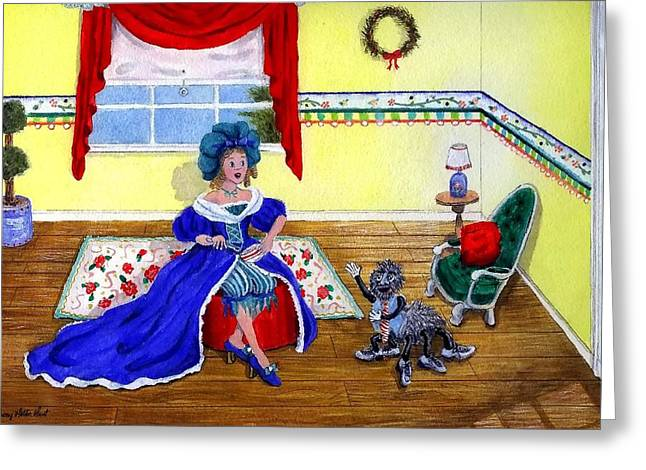 Little Miss Muffet Greeting Card by Sherry Holder Hunt