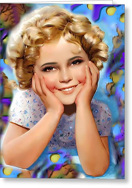Little Miss Shirley Greeting Card