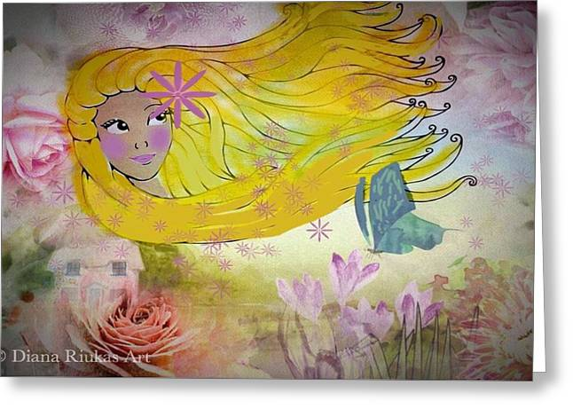 Little Miss Sunshine #2 Greeting Card by Diana Riukas