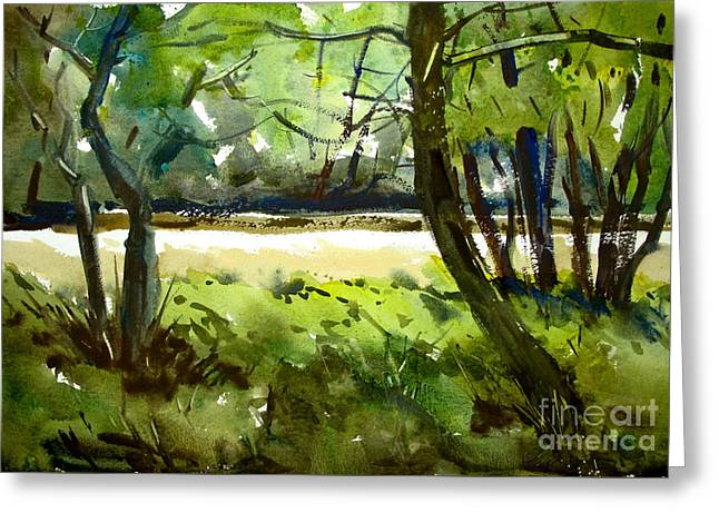 Little Mississinewa Running Wild Matted Glassed Framed Greeting Card