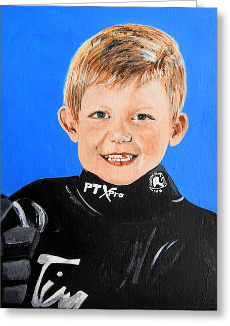 Little Mister G Greeting Card by Betty-Anne McDonald