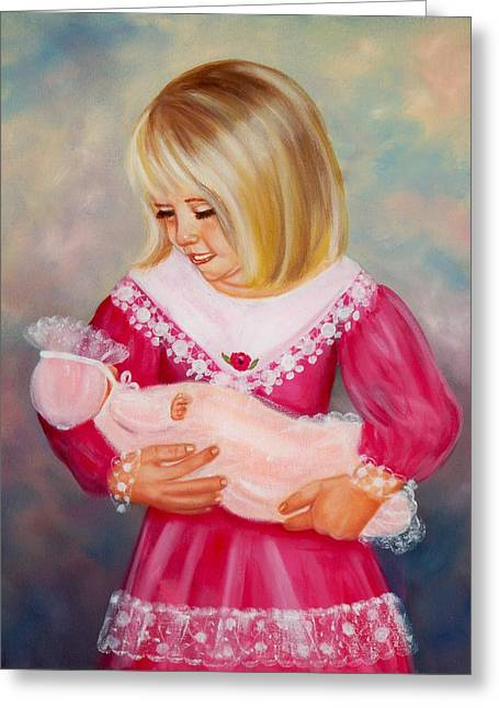 Little Mommy Greeting Card by Joni McPherson