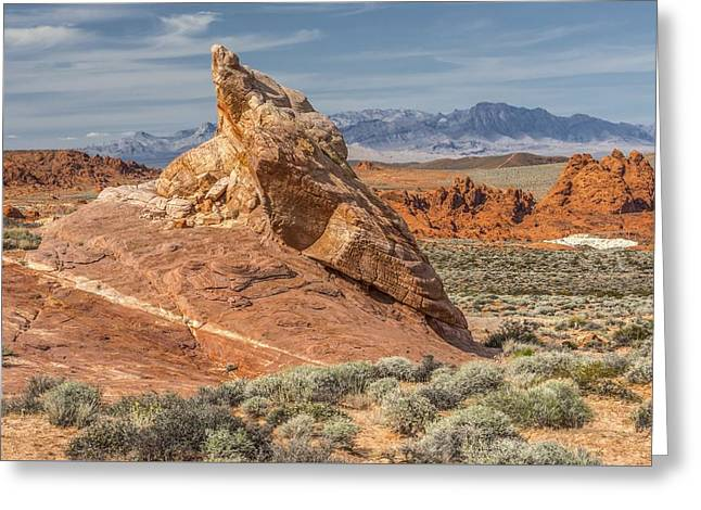 Little Monument In Valley Of Fire Greeting Card