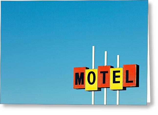 Little Motel Sign Greeting Card
