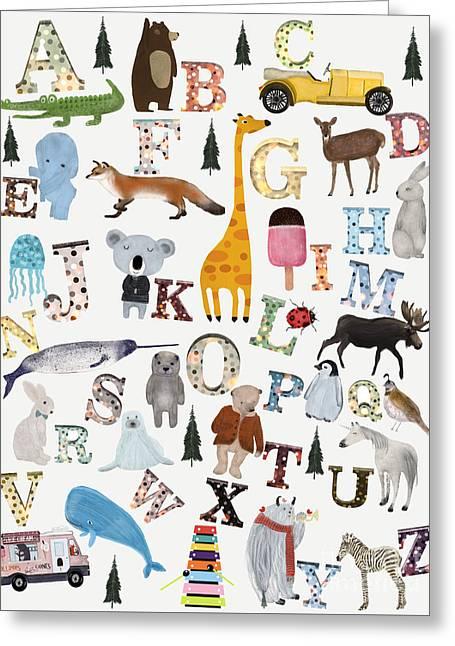 Little Nature Alphabet Greeting Card