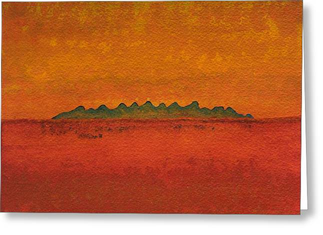 Little Needles Original Painting Greeting Card by Sol Luckman