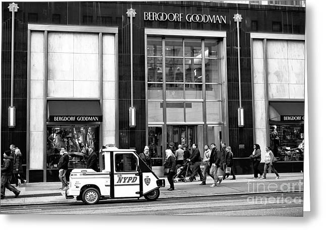 Little Nypd On 5th Avenue Greeting Card by John Rizzuto