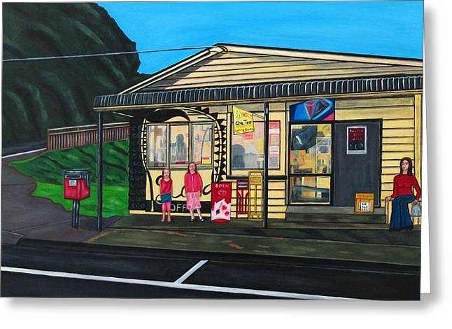 Little Oneroa Store Greeting Card by Sandra Marie Adams