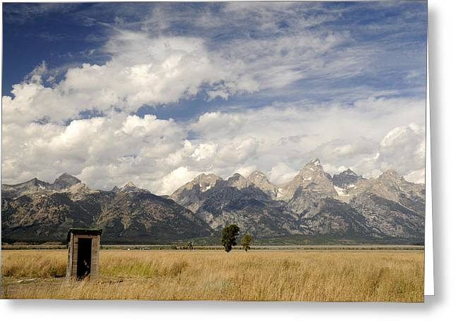Little Outhouse On The Prairie Greeting Card