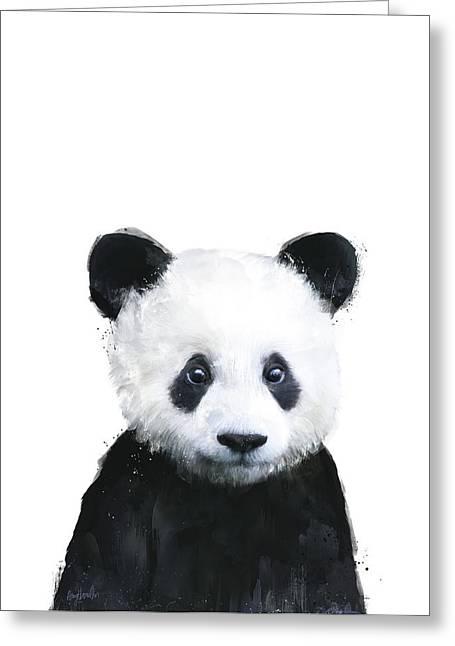 Little Panda Greeting Card by Amy Hamilton